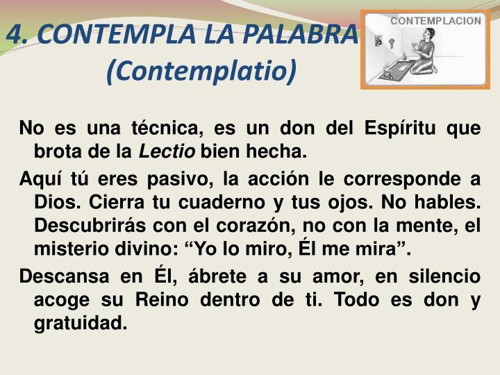 4. CONTEMPLA LA PALABRA