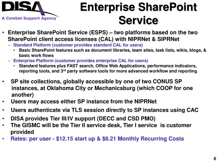 Enterprise SharePoint Service