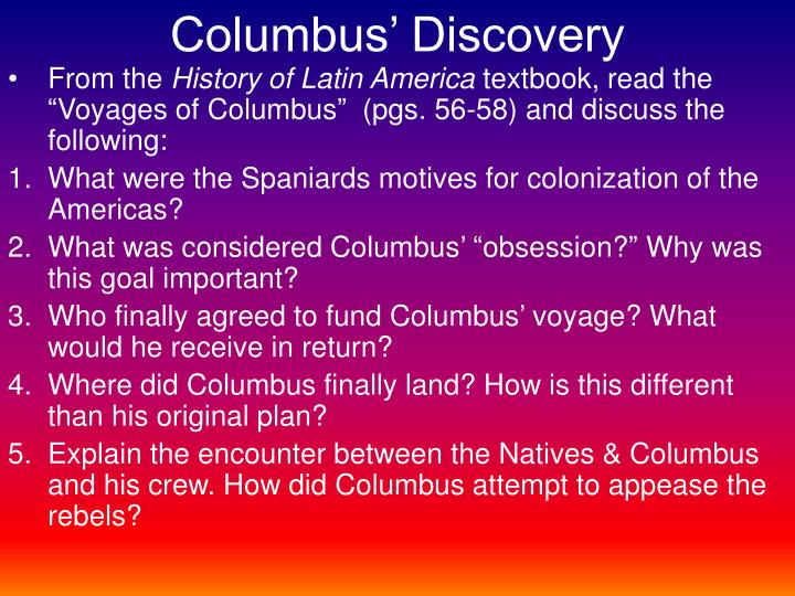 Columbus' Discovery
