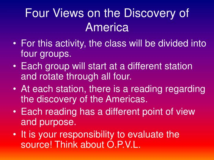 Four Views on the Discovery of America