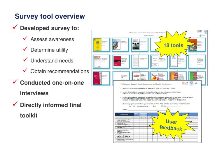 Survey tool overview