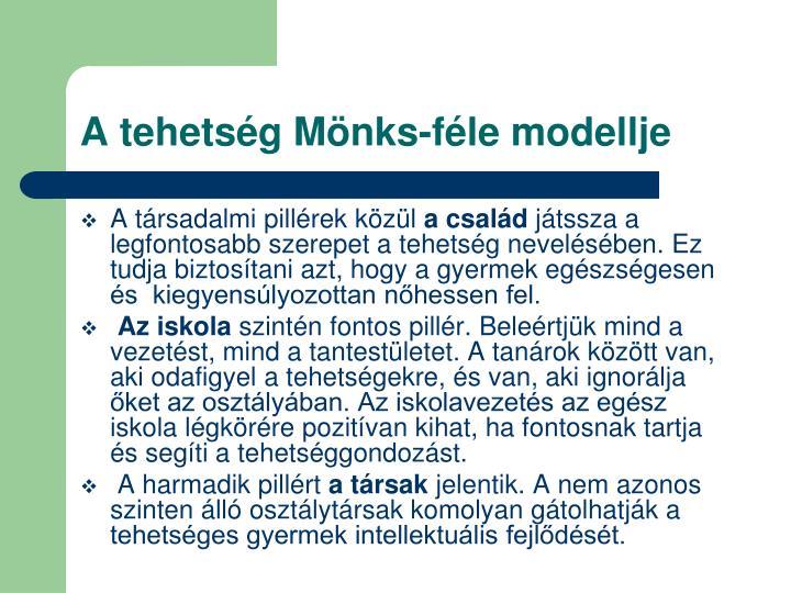 A tehetség Mönks-féle modellje