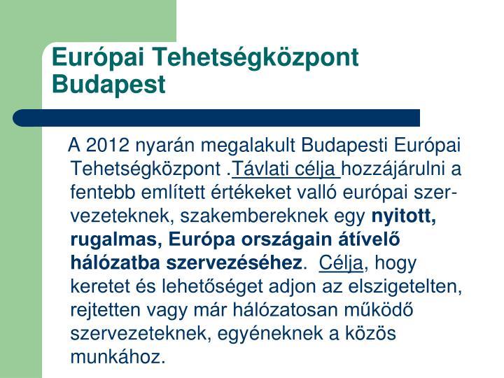 Európai Tehetségközpont