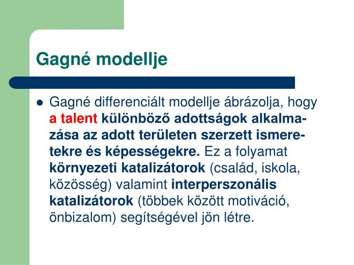 Gagné modellje