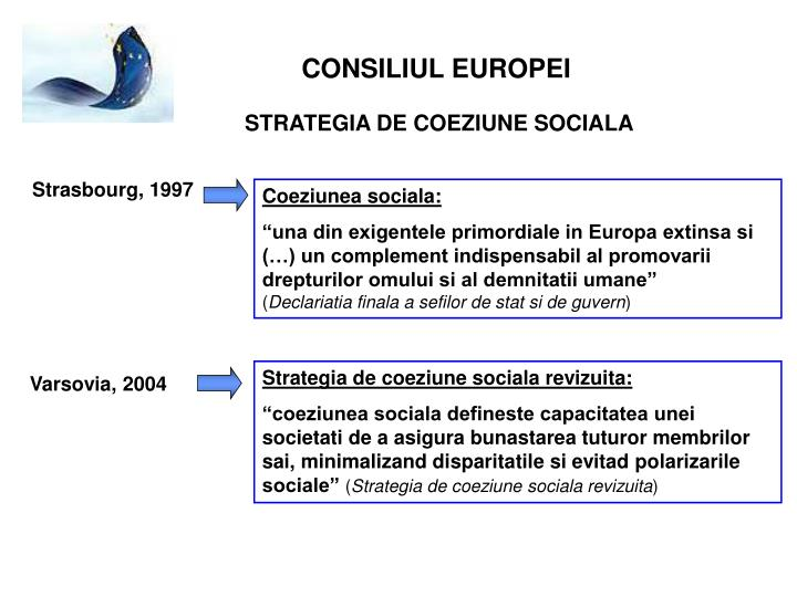 Strategia de coeziune sociala