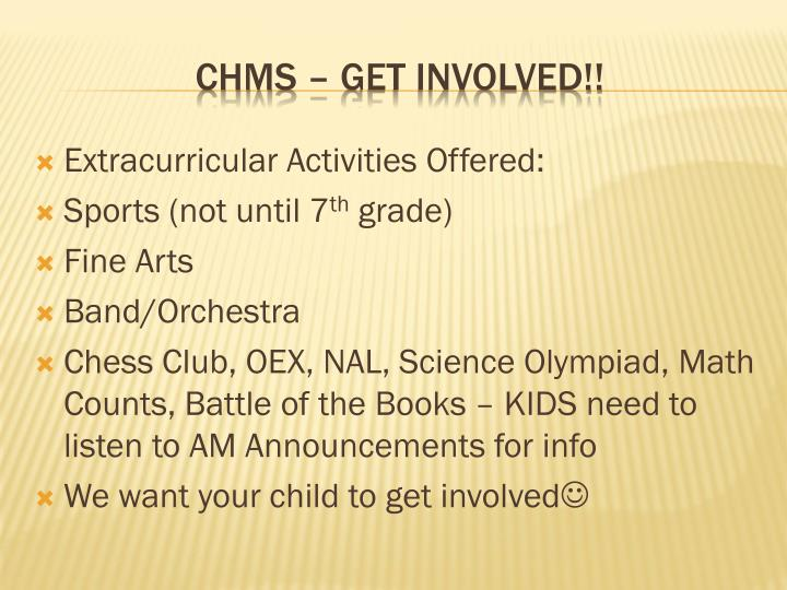 Extracurricular Activities Offered: