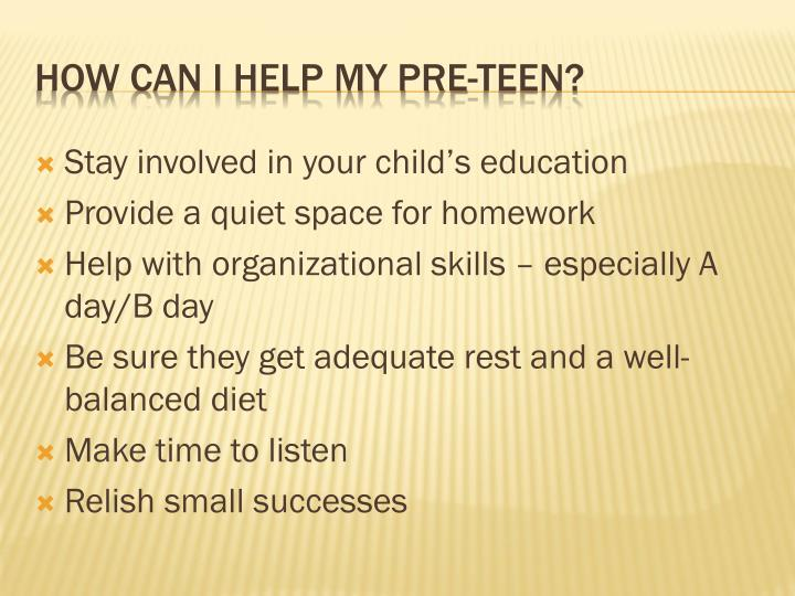 Stay involved in your child's education