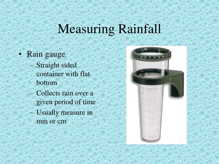 Measuring Rainfall