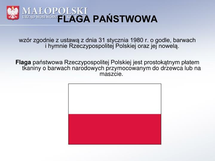 FLAGA PAŃSTWOWA