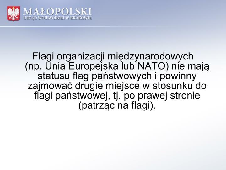 Flagi organizacji międzynarodowych