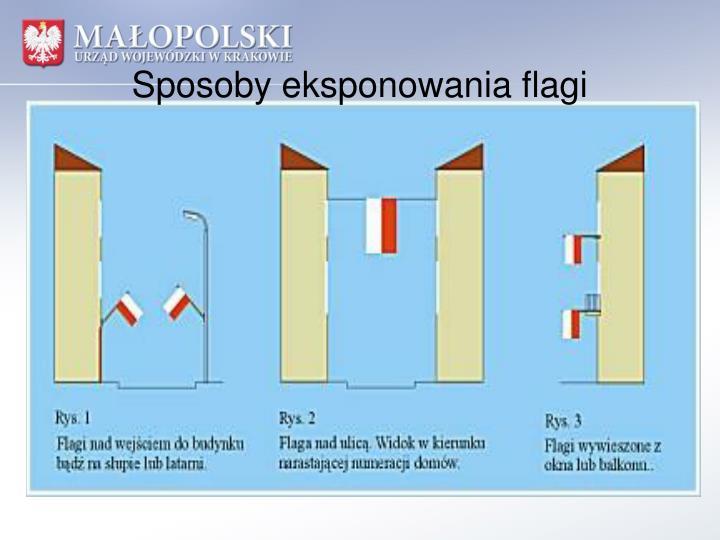 Sposoby eksponowania flagi