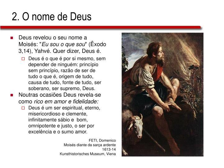 2. O nome de Deus