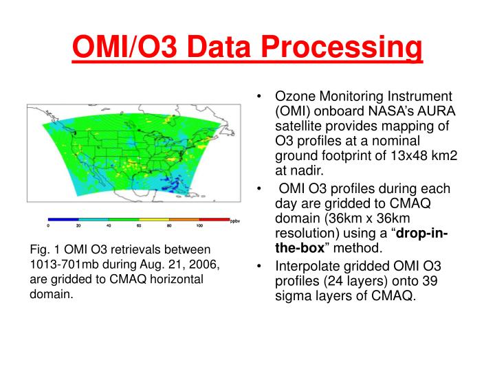 OMI/O3 Data Processing