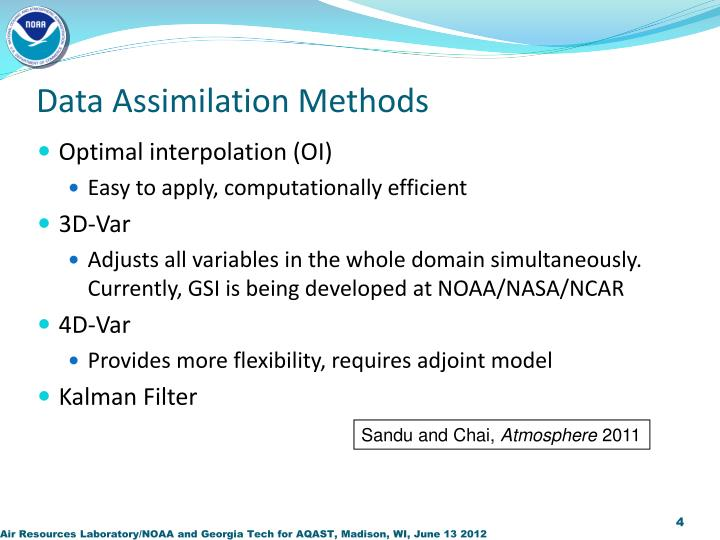 Data Assimilation Methods