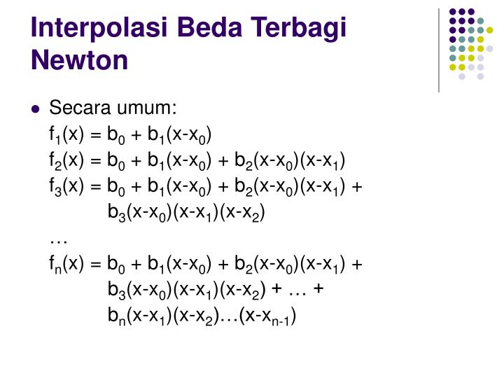 Interpolasi Beda Terbagi Newton