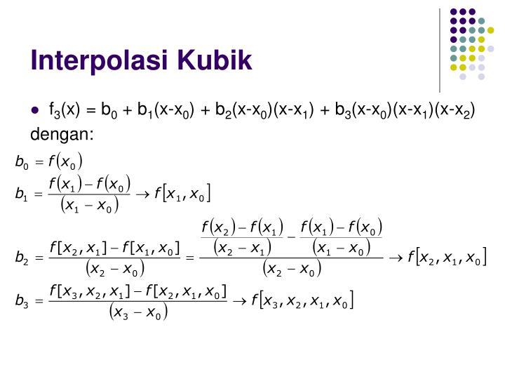 Interpolasi Kubik