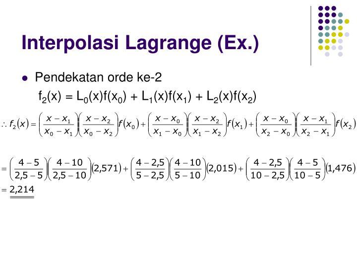 Interpolasi Lagrange (Ex.)