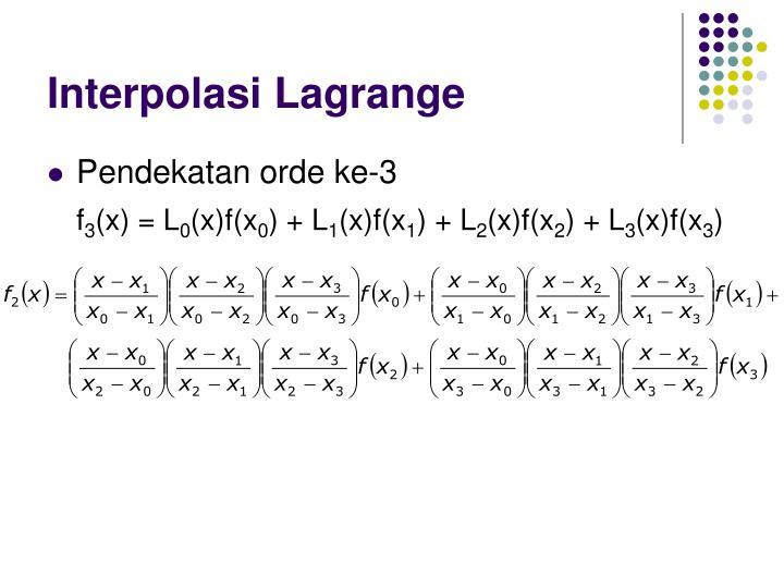 Interpolasi Lagrange
