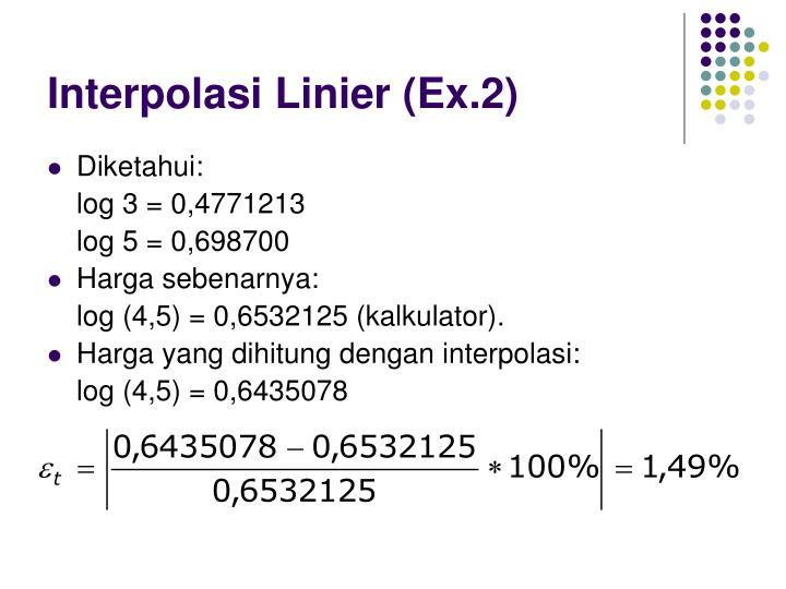 Interpolasi Linier (Ex.2)