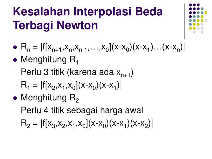 Kesalahan Interpolasi Beda Terbagi Newton