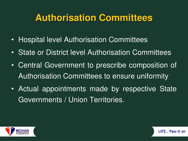 Authorisation Committees