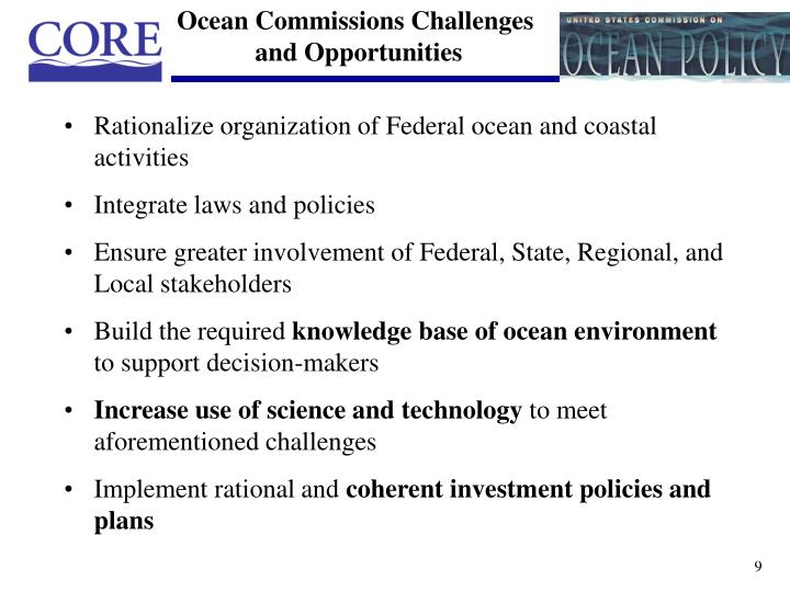 Ocean Commissions Challenges