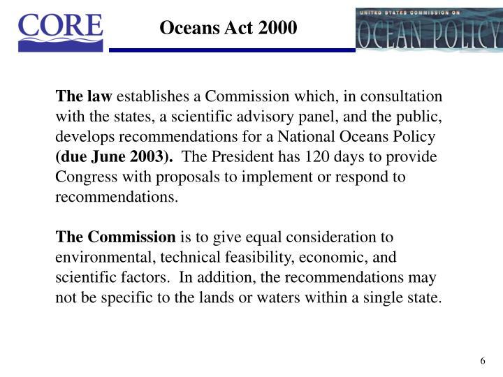 Oceans Act 2000