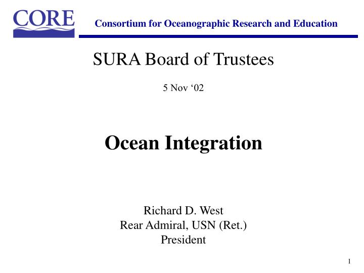Consortium for Oceanographic Research and Education