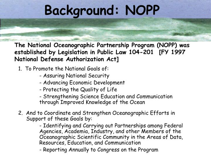 Background: NOPP