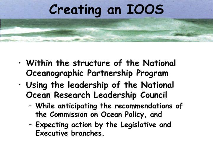 Creating an IOOS