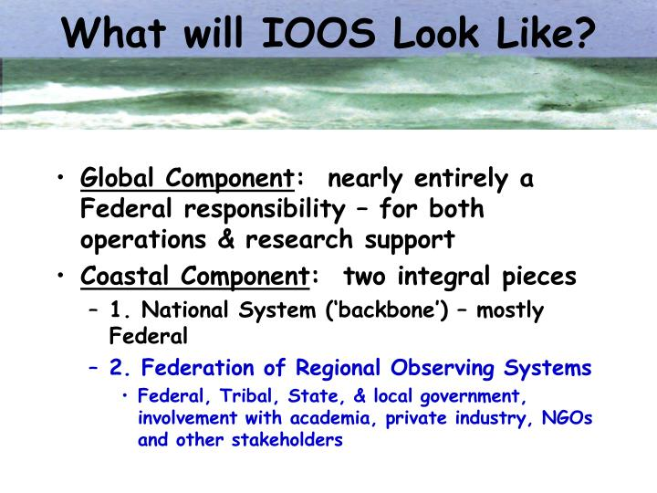What will IOOS Look Like?