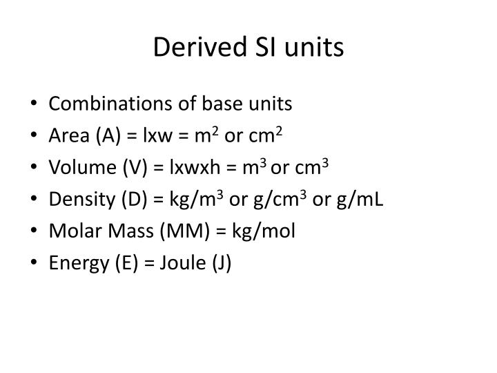 Derived SI units