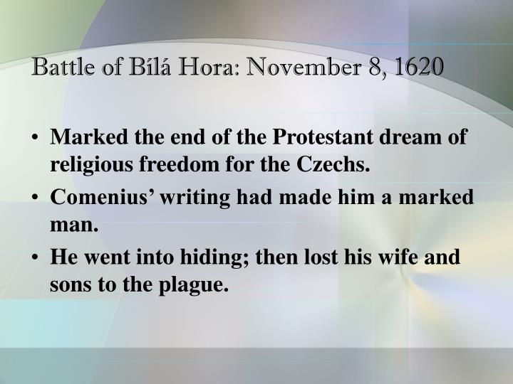 Battle of Bílá Hora: November 8, 1620