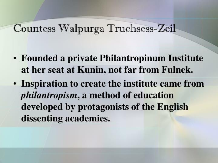 Countess Walpurga Truchsess-Zeil