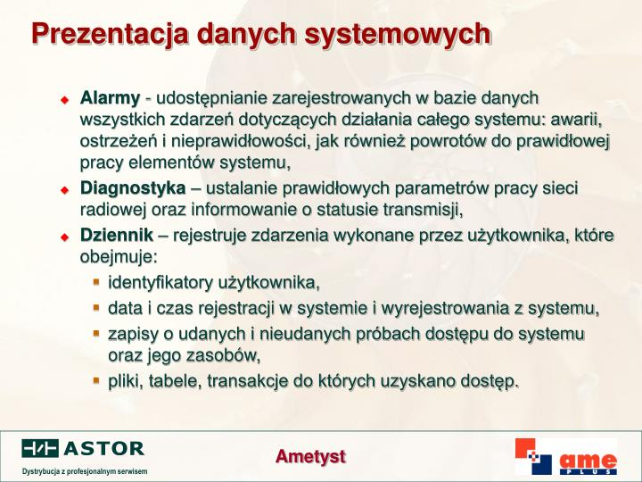 Prezentacja danych systemowych