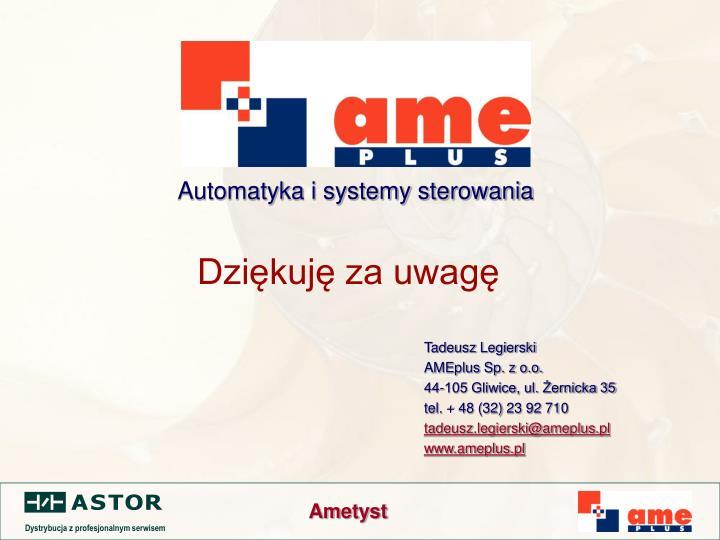 Automatyka i systemy sterowania