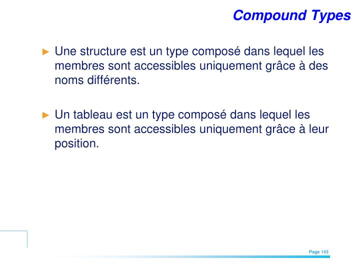 Compound Types