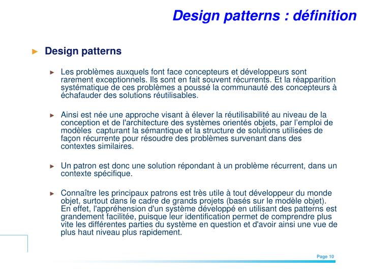 Design patterns : définition