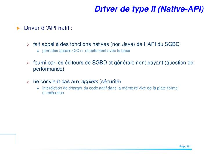 Driver de type II (Native-API)