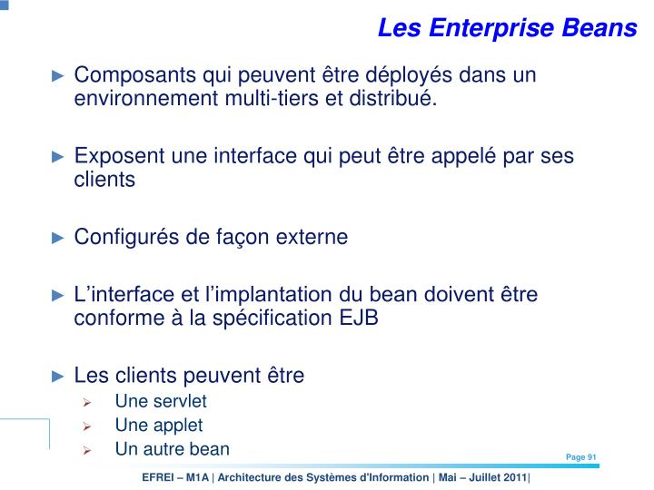 Les Enterprise Beans