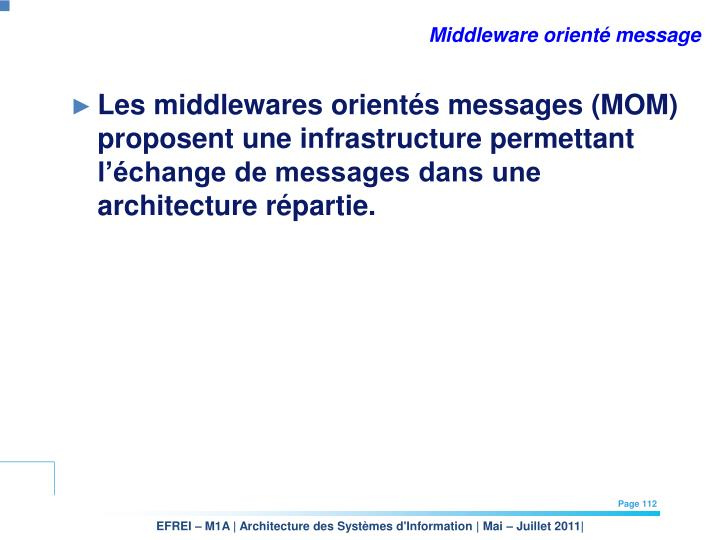 Middleware orienté message