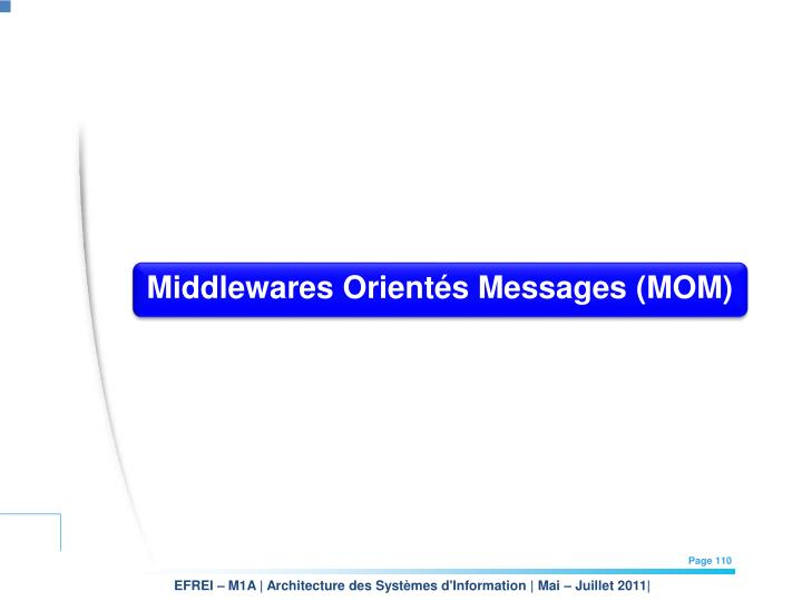 Middlewares Orientés Messages (MOM)