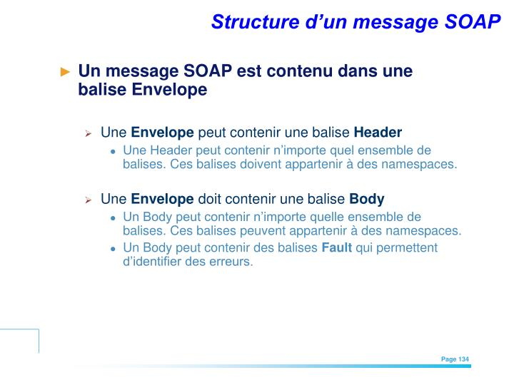 Structure d'un message SOAP