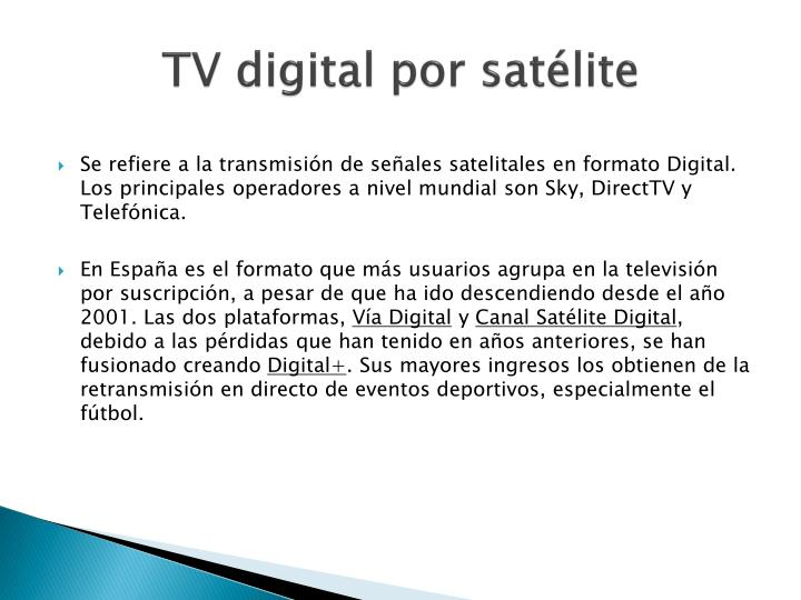 TV digital por satélite