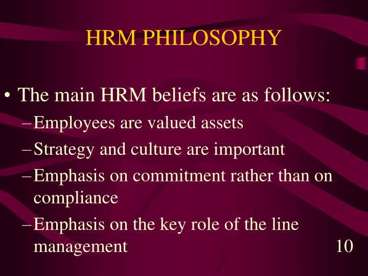 HRM PHILOSOPHY