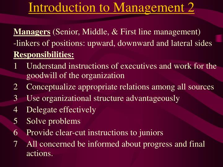 Introduction to management 2