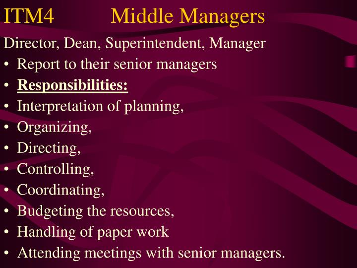 ITM4Middle Managers