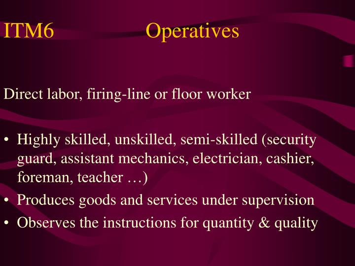 ITM6Operatives