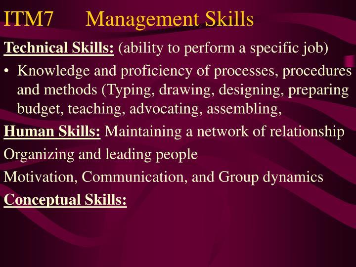 ITM7   Management Skills