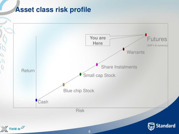 Asset class risk profile